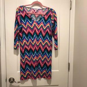 Lilly Pulitzer Gretchen Chevron Stripe Dress